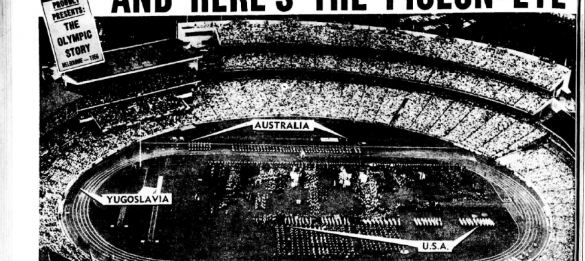 The Argus highlights the MCG during the 1956 Melbourne Olympic Games.
