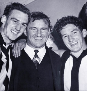Bob Rose (middle) celebrates a win with Ian Graham (left) and David Norman (right).