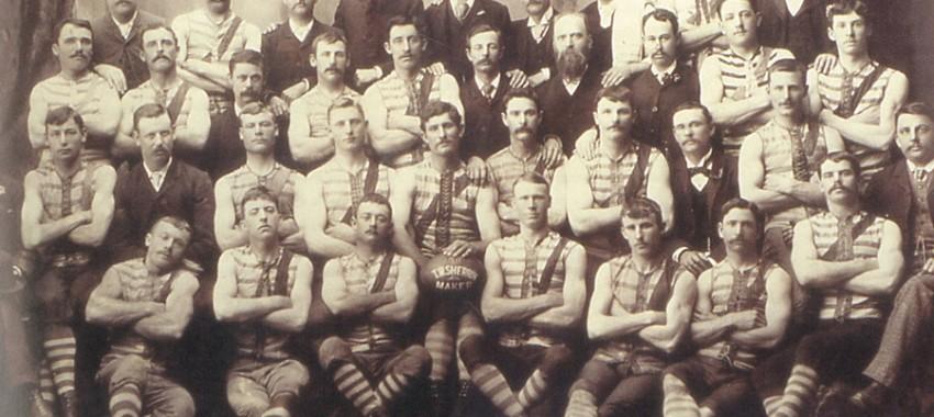 The Britannia Football Club in 1891.