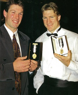 Gavin Brown and Nathan Buckley were joint winners of the E. W. Copeland Trophy in 1994.