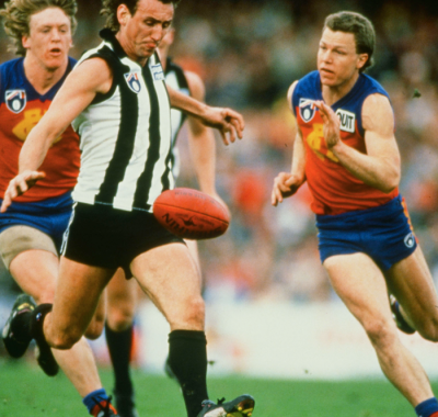 Peter Daicos up against Fitzroy in 1991.