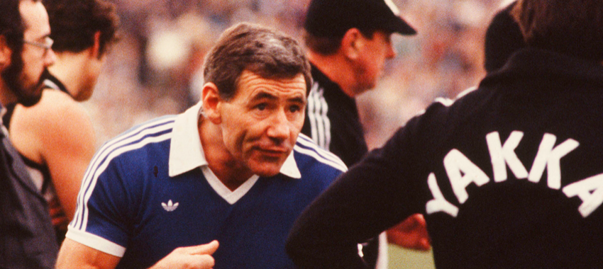Tom Hafey became a coaching legend while in charge of Richmond (1966-1976) and Collingwood (1977-1982)