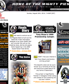 The collingwoodfc.com.au in 2000.