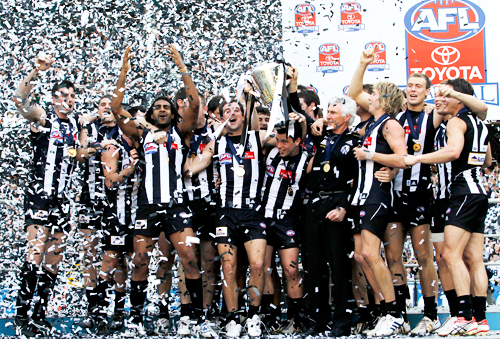 Collingwood celebrates its 2010 premiership at the MCG, its 15th in history.