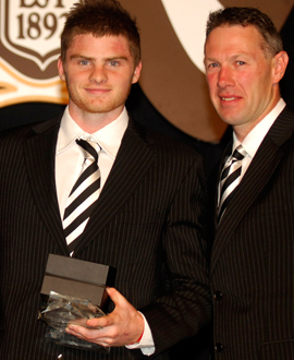 Heath Shaw with Gavin Brown at the 2006 Copeland Trophy night.