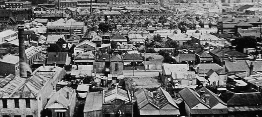 The suburb of Collingwood, from the Town Hall Tower - date unknown.