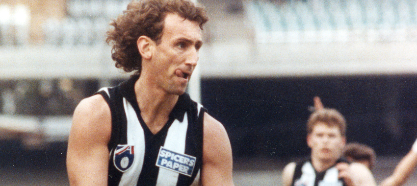 Peter Daicos kicked eight goals in a match-winning performance against Geelong in round two, 1993.