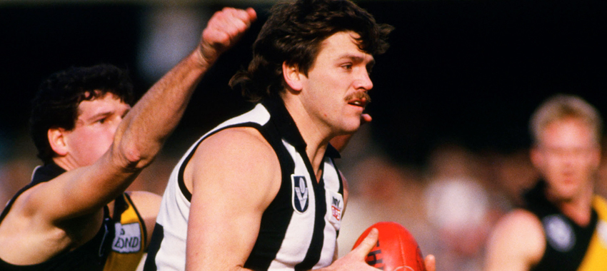 Brian Taylor kicked six goals in the second half to help Collingwood topple Richmond at VFL Park in 1987.