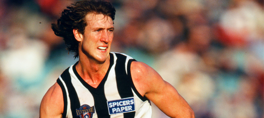 Injury prone forward Lee Walker kicked two goals in Collingwood's narrow win over Footscray in round 17, 1996.